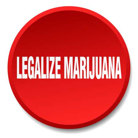 legalize: legalize marijuana red round flat isolated push button Illustration