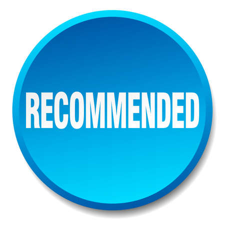recommended: recommended blue round flat isolated push button