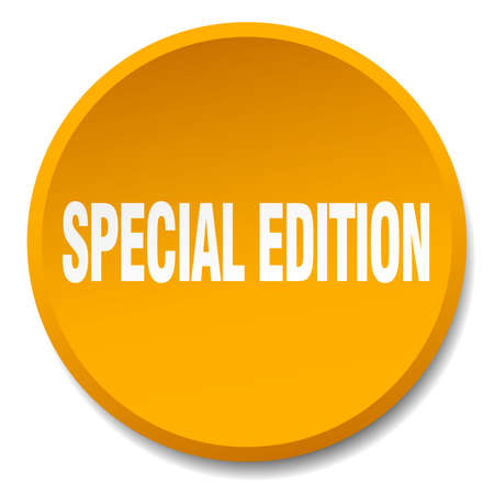special edition: special edition orange round flat isolated push button