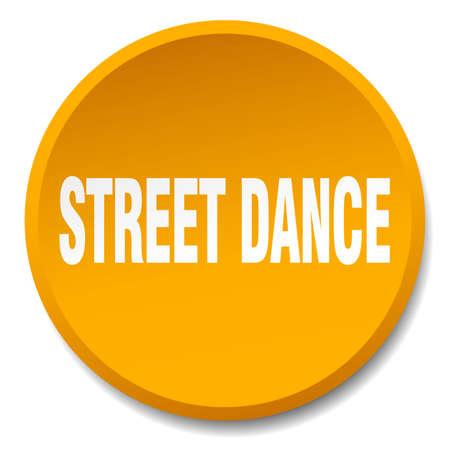 street dance: street dance orange round flat isolated push button
