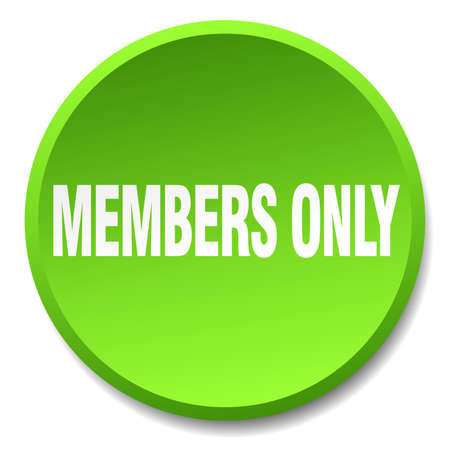 members only: members only green round flat isolated push button