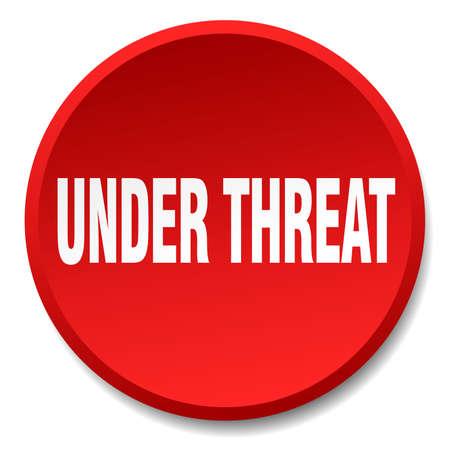 threat: under threat red round flat isolated push button