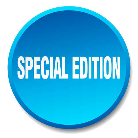 special edition: special edition blue round flat isolated push button