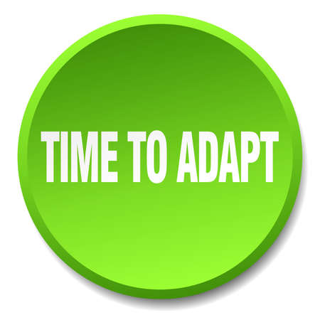 adapt: time to adapt green round flat isolated push button