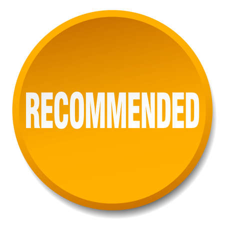 recommended: recommended orange round flat isolated push button