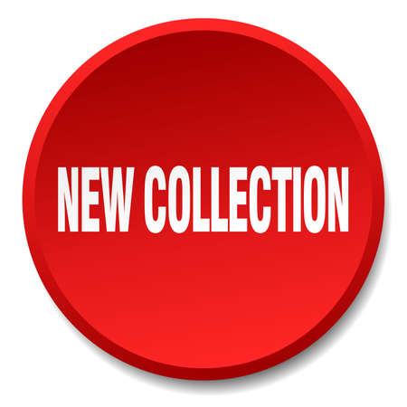 new collection: new collection red round flat isolated push button