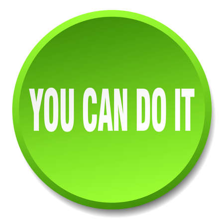 green it: you can do it green round flat isolated push button