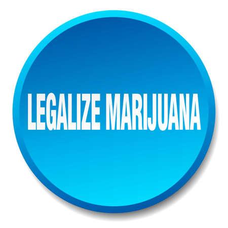 legalize: legalize marijuana blue round flat isolated push button Illustration