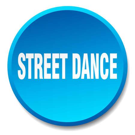 street dance: street dance blue round flat isolated push button