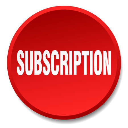 subscription: subscription red round flat isolated push button Illustration