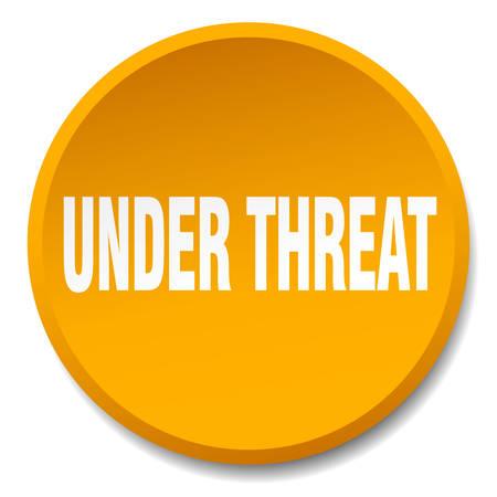 threat: under threat orange round flat isolated push button