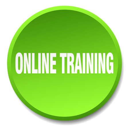 グリーン フラット分離プッシュ ボタン丸をオンライン トレーニング