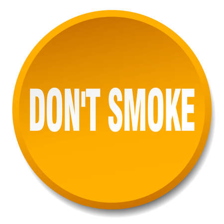 dont: dont smoke orange round flat isolated push button