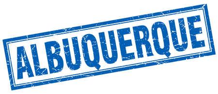 albuquerque: Albuquerque blue square grunge stamp on white