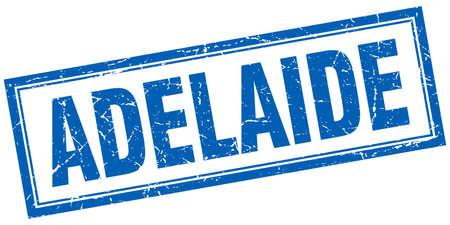 adelaide: Adelaide blue square grunge stamp on white