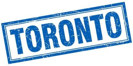toronto: Toronto blue square grunge stamp on white