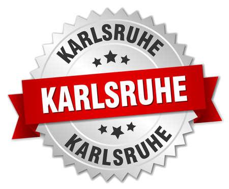 karlsruhe: Karlsruhe  round silver badge with red ribbon