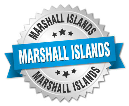 marshall: Marshall Islands round silver badge with blue ribbon