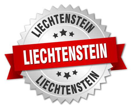 liechtenstein: Liechtenstein  round silver badge with red ribbon