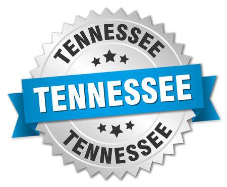 tennesse: Tennessee insignia de plata redondo con cinta azul