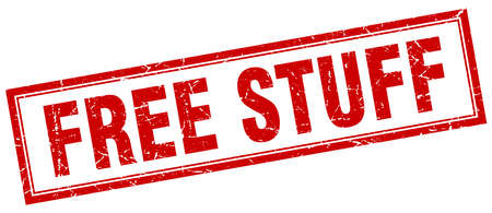 stuff: free stuff red grunge square stamp on white