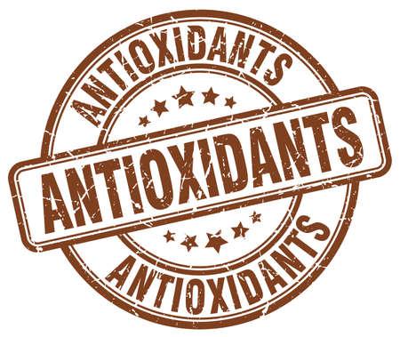 antioxidants: antioxidants brown grunge round vintage rubber stamp