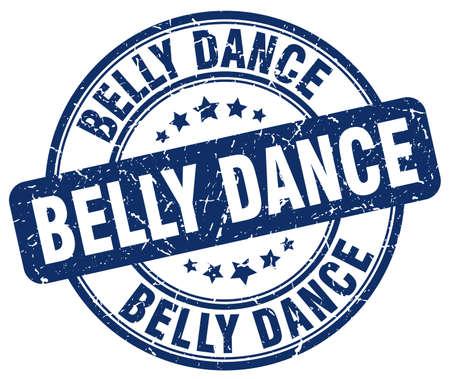 belly dance: belly dance blue grunge round vintage rubber stamp Illustration