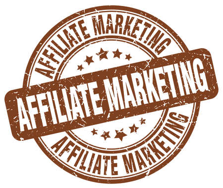 affiliate marketing: affiliate marketing brown grunge round vintage rubber stamp
