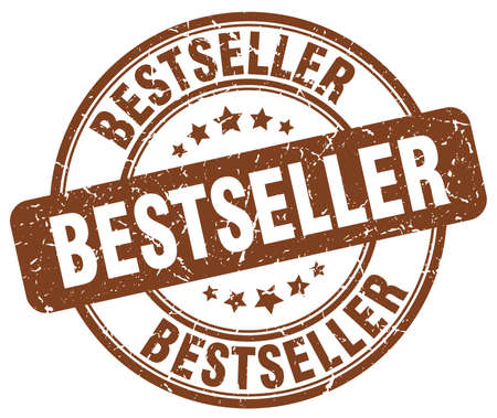 bestseller: bestseller brown grunge round vintage rubber stamp