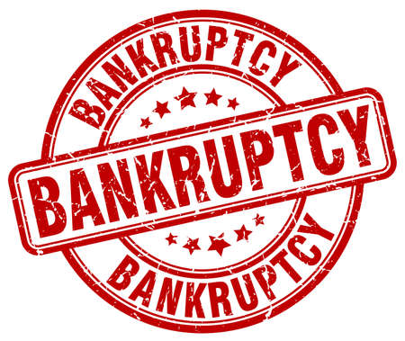 bankruptcy: bankruptcy red grunge round vintage rubber stamp