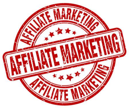 affiliate marketing: affiliate marketing red grunge round vintage rubber stamp