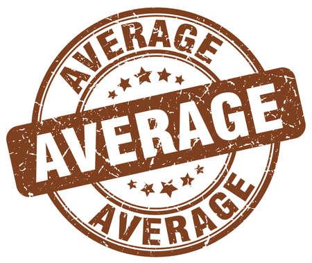 average: average brown grunge round vintage rubber stamp