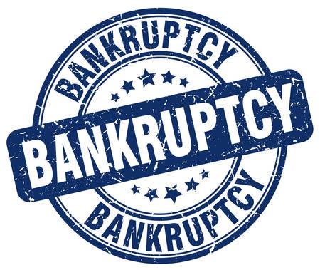 bankruptcy: bankruptcy blue grunge round vintage rubber stamp Illustration