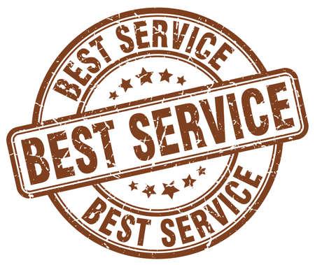 best service: best service brown grunge round vintage rubber stamp Illustration