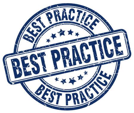 best practices: best practice blue grunge round vintage rubber stamp
