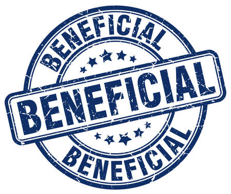 beneficial: beneficial blue grunge round vintage rubber stamp Illustration