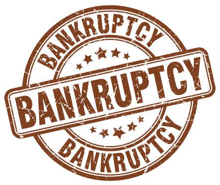 bankruptcy: bankruptcy brown grunge round vintage rubber stamp Illustration