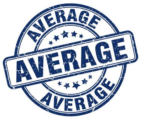 average: average blue grunge round vintage rubber stamp Illustration