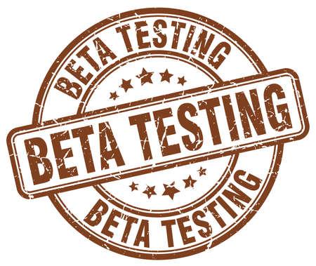 tester: beta testing brown grunge round vintage rubber stamp Illustration