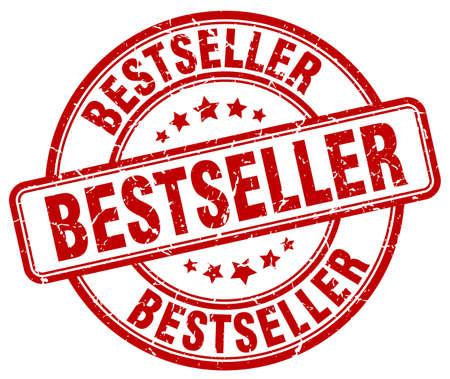 bestseller: bestseller red grunge round vintage rubber stamp