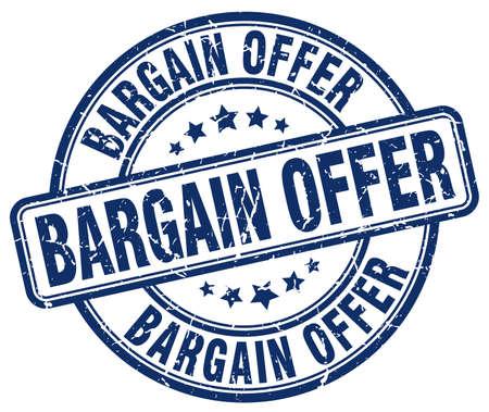 bargains: bargain offer blue grunge round vintage rubber stamp