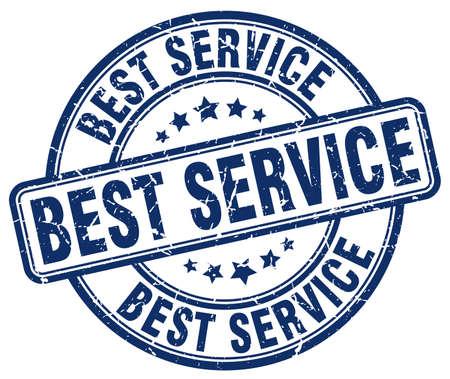 best service: best service blue grunge round vintage rubber stamp