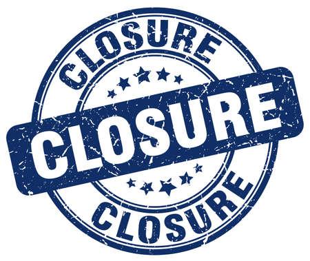 closure: closure blue grunge round vintage rubber stamp Illustration