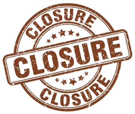 closure: closure brown grunge round vintage rubber stamp Illustration