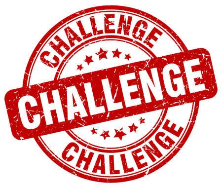 Herausforderung rot Grunge runden Vintage-Stempel