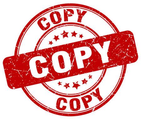 copy: copy red grunge round vintage rubber stamp