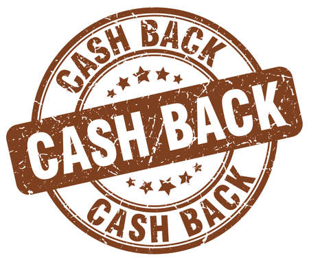 cash back: cash back brown grunge round vintage rubber stamp