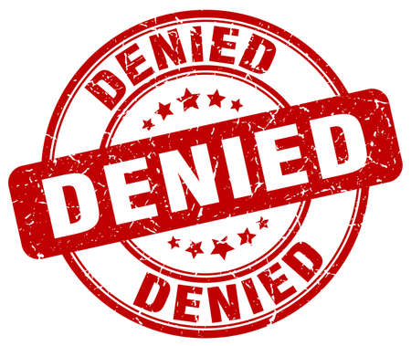 denied: denied red grunge round vintage rubber stamp