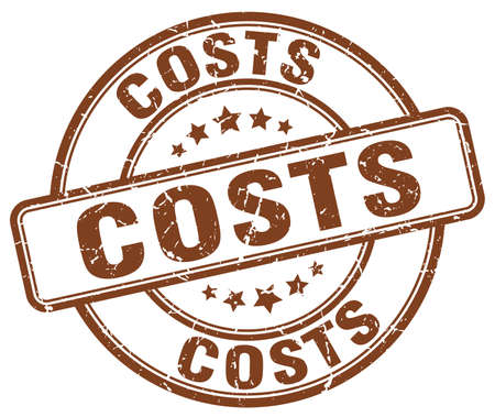 costs: costs brown grunge round vintage rubber stamp Illustration