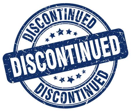 discontinued: discontinued blue grunge round vintage rubber stamp Illustration